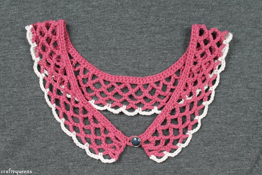 Plum Ivory Crochet Collar Pattern Crafty Queens