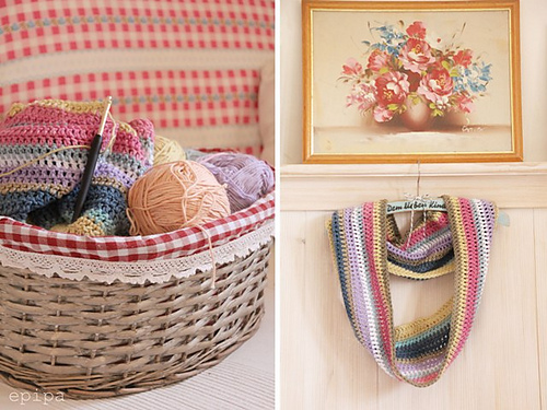 Wat een prachtige sjaal! En de mooiste kleurencombi die ik in een tijdje heb gezien, ik ben meteen geinspireerd! Gratis patroon van Epipa