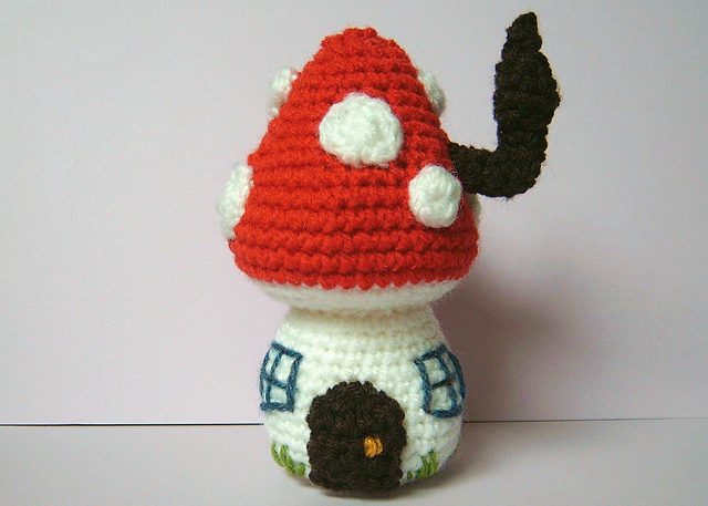 Toadstool house by Christina Eady, paid pattern.