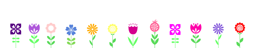 flowery banner