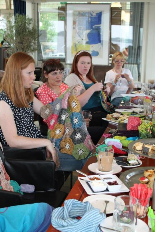 Crochet high tea