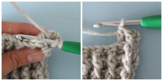 Reliëfstokje Achterlangs - Back Post Double Crochet