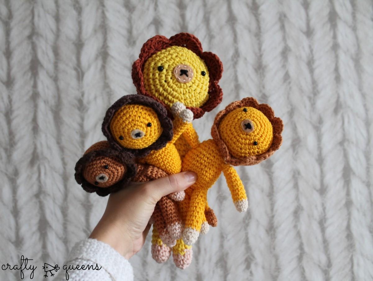 Amigurumi Queens : New Pattern: Amigurumi Lion Crafty Queens